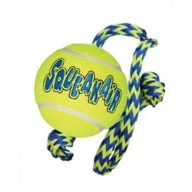 Kong AirDog Squeakair piiksuga ja nööriga tennispall